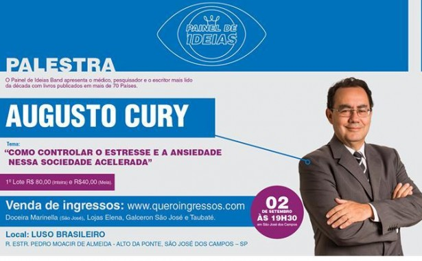 PALESTRA AUGUSTO CURY  -  EVENTO CANCELADO
